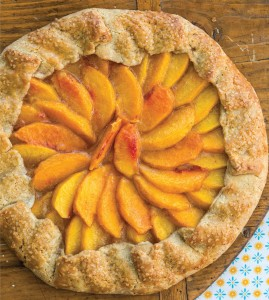 Peach Galette. Photography (c) 2013 by Staci Valentin.