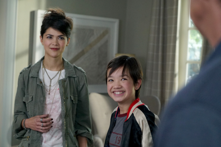 """ANDI MACK - Disney Channel has ordered """"Andi Mack,"""" a new series for kids and families created and executive-produced by Terri Minsky who also created one of Disney Channel's defining hit series, """"Lizzie McGuire."""" The series begins production this fall in Salt Lake City, Utah, with 12-year-old newcomer Peyton Elizabeth Lee starring in the title role. It is scheduled for a 2017 premiere on Disney Channel. (Disney Channel/Eric McCandless) LILAN BOWDEN, PEYTON ELIZABETH LEE"""