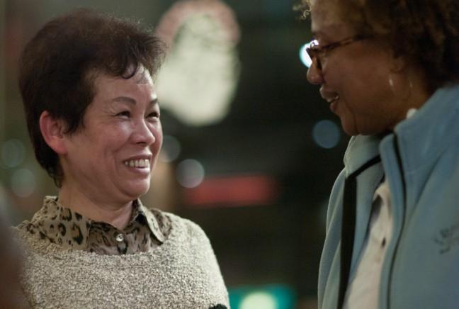 Paula Madison and her Chinese cousin Kim Yuet Lau.