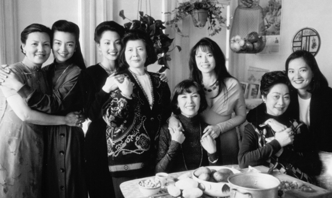"""The cast of """"The Joy Luck Club."""" Tomita starred as Waverly."""