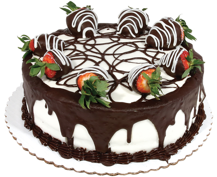 10in Big Y Chocolate Strawberry Cake