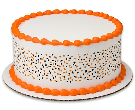 White Halloween PhotoCake® Image Strips Cake