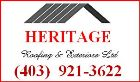 Website for Heritage Roofing and Exteriors Ltd.