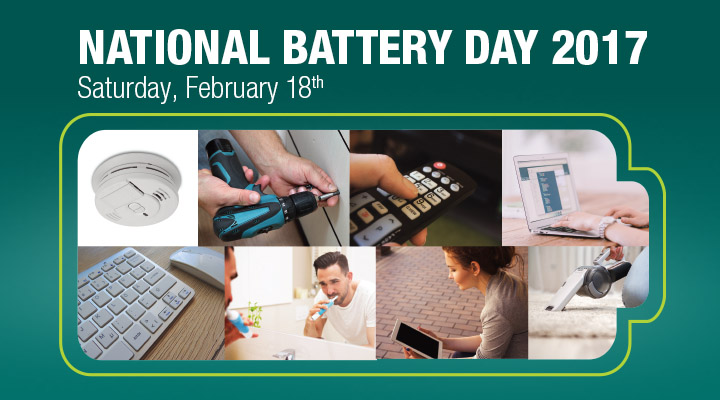 Consumers Encouraged to Charge Up on National Battery Day