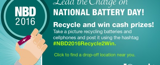 Consumers to Lead the Battery Recycling Charge on National Battery Day