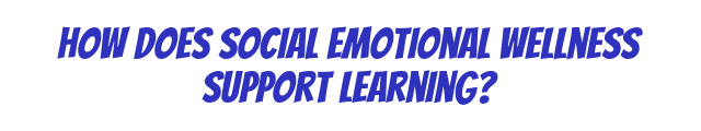 how does Social Emotional Wellness support Learning?