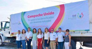 Christelle Castañón encabezó envió de ayuda a damnificados