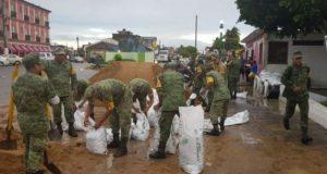 Refuerza Semar y Sedena apoyo a Veracruz por creciente