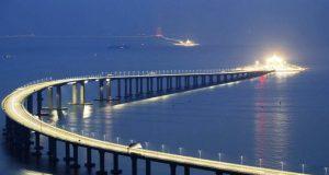 El puente mas largo del mundo mide 55 km; fue inaugurado en China