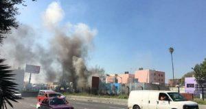 Se registra incendio en la línea 2 del Metro