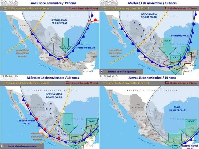 Descenso de temperatura en Campeche