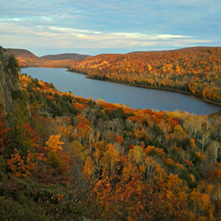 Camping near Porcupine Mountains
