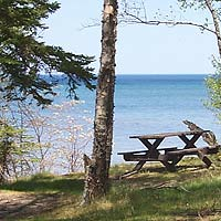 Hurricane River Campground (rustic campsites in Pictured Rocks)