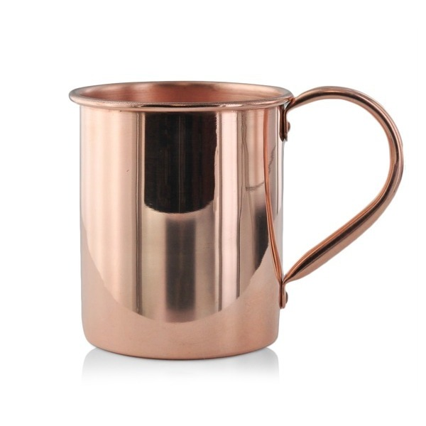 Paykoc Solid Copper Moscow Mule Mugs, 4 Pack