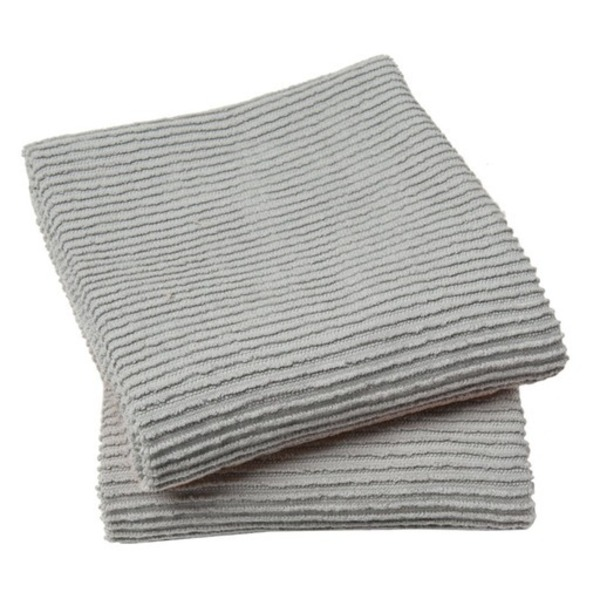 Now Designs Ripple Towel, London Grey, Set of 2