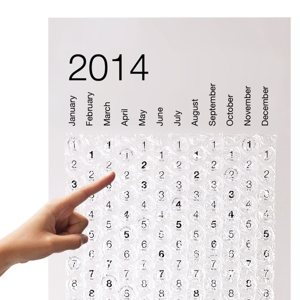 2014 Bubble Calendar, Poster Sized Wall Calendar