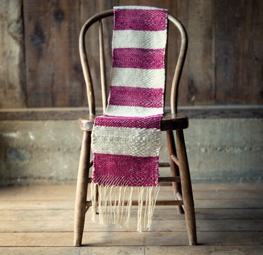 Striped Scarf on a Wooden Chair