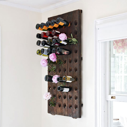 Peg Board Wine Rack