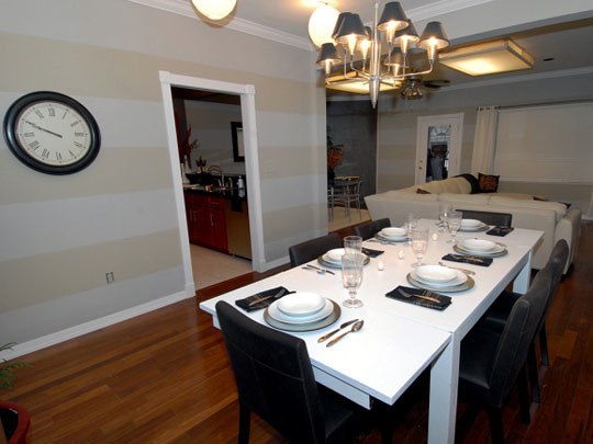Dining Room with Stripes