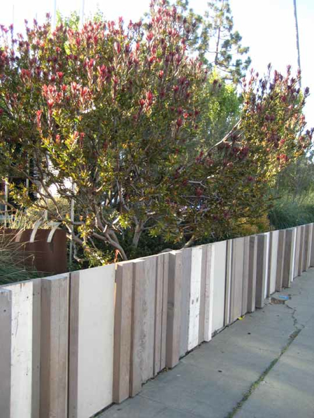 Rough Recycled Wood Fence
