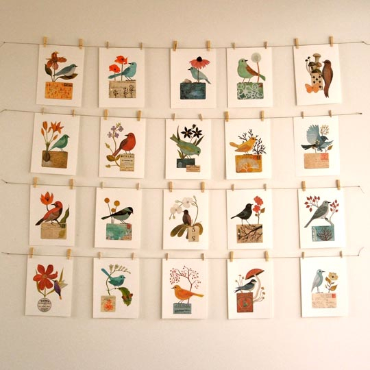 Clothesline Mounted Pictures