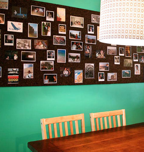 Cork board Photo Wall