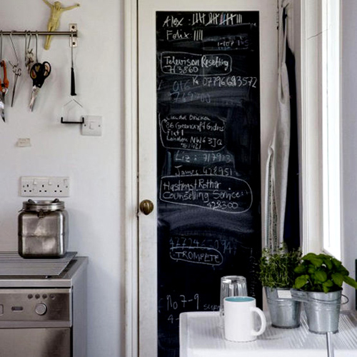 Chalkboard on a Pantry Door