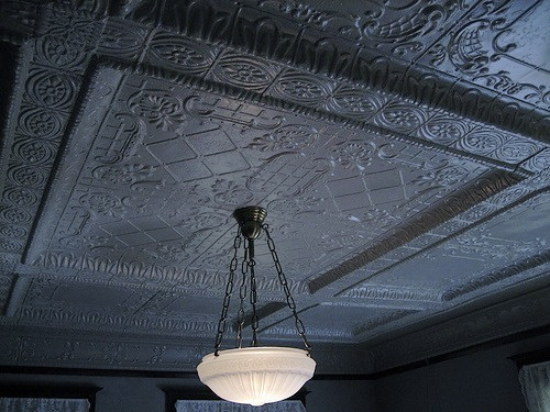 Grey Tin Ceiling