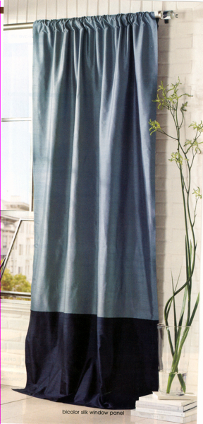 Bi-color Floor-length Curtains