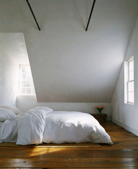Sparse White Bedroom