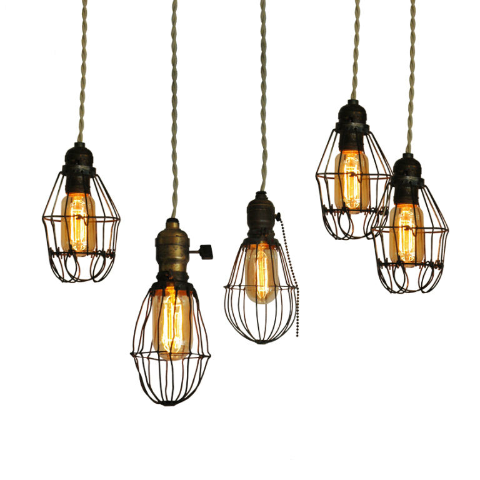 Caged Edison Bulbs