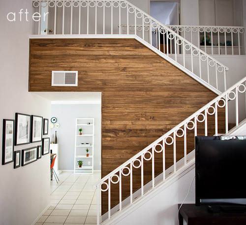 Paneled Stairway Wall