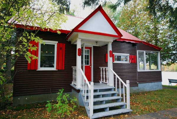 Cottage with Red Shutters