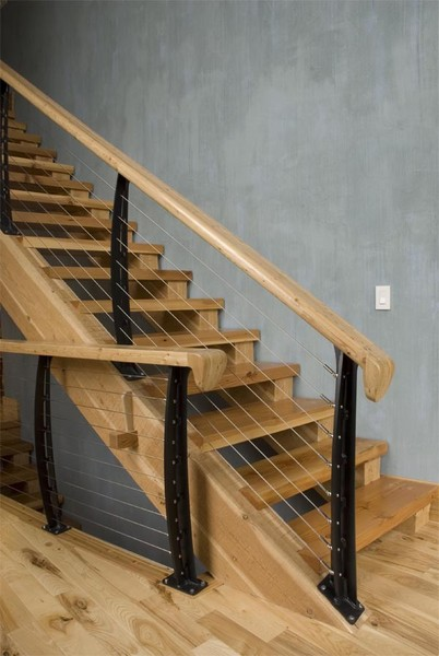 Stairs of Wood and Steel
