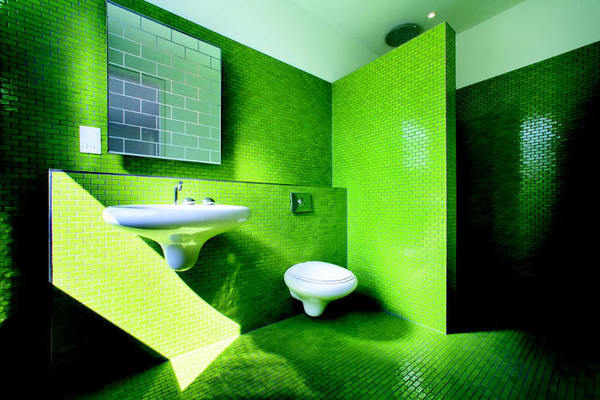 Very Green Bathroom