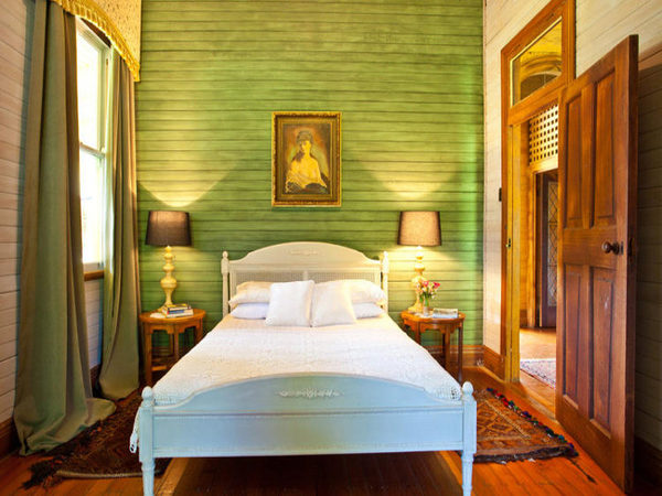 Green Horizontal Paneling