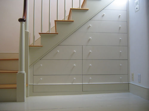 Drawers Built Into the Stairs