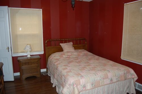 Red Striped Bedroom Walls