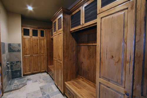 Mudroom with a Dog Shower and Drain