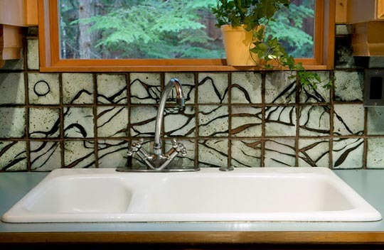 Mountain Tile Backsplash