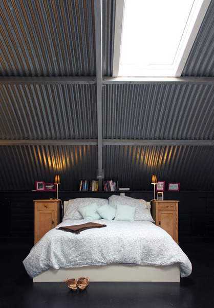 Metal Ceiling Bedroom