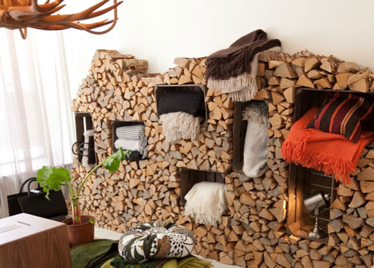 Wood Pile Shelves