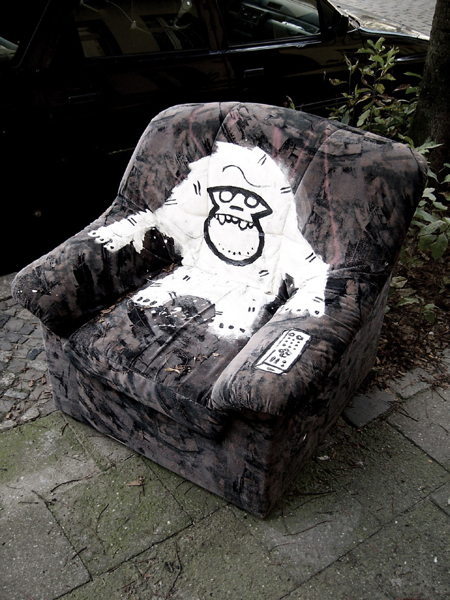 Stenciled Recliner