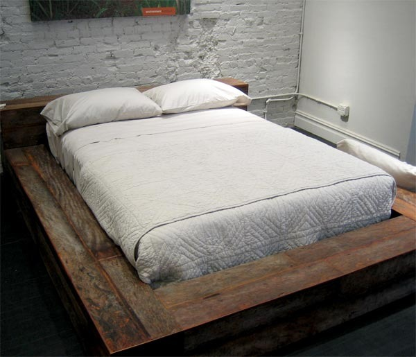 Wide Bordered Bed