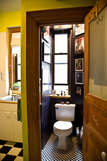 Tiny Black Bathroom