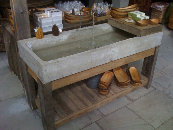 Concrete and Old Lumber Sink