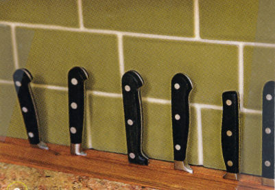 Knife Rack in the Countertop