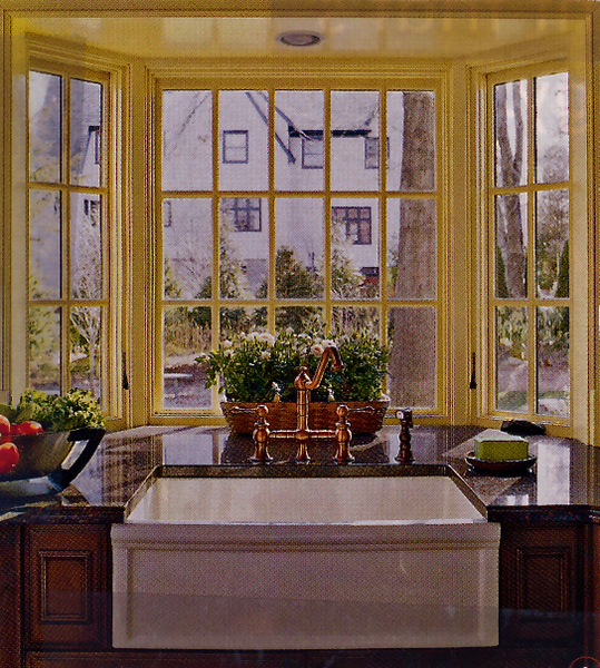 Countertop to the Edge of a Bay Window