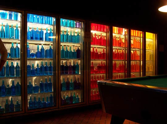 Bottles Organized by Color