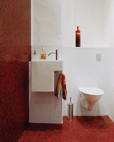 Small Red Tile Wall